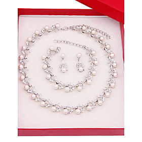 Women's Jewelry Set - Imitation Pearl, Silver Plated Simple, Fashion Include Bridal Jewelry Sets Silver For Wedding Daily