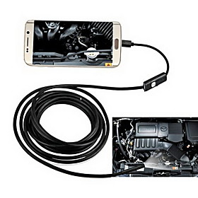 2in1 AndroidPC 8.0mm Lens HD Endoscope 2.0 Mega Pixels 6 LED IP67 Waterproof Inspection Borescope 2m Long Flexible Cord