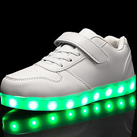 Boys' / Girls' Leatherette Sneakers Little Kids(4-7ys) / Big Kids(7years ) Comfort / Light Up Shoes Walking Shoes Lace-up / Hook  Loop / LED Red / Blue / Pink Category:Sneakers; Upper Materials:Leatherette; Embellishment:Lace-up,LED,Hook  Loop; Season:Spring; Gender:Girls',Boys'; Activity:Walking Shoes; Style:Light Up Shoes,Comfort; Occasion:Outdoor,Casual; Age Group:Big Kids(7years ),Little Kids(4-7ys); Insole Materials:EVA; Shipping Weight:0.576429; Listing Date:03/28/2018; Foot Length:; SizeChart1_ID:2:52949; Size chart date source:Measured by LightInTheBox.; Base Categories:Kids' Shoes,Shoes,Apparel  Accessories; Popular Country:Netherlands,Czech Republic,Norway; Special selected products:COD