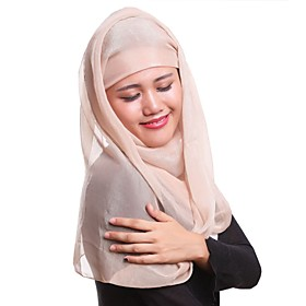 Women's Party Polyester Hijab - Solid Colored 6560192