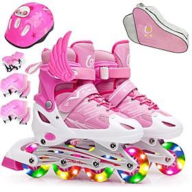 Girls' Inline Skates Kid's / Child's Walking / Jumping Red / Blushing Pink / Purple Sports  Outdoor