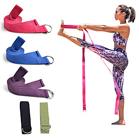 Yoga Strap Cotton Thick Durable Adjustable D-Ring Buckle Physical Therapy Stretching Physical Therapists Pilates Exercise  Fitness Gym Workout For