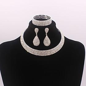 Women's Jewelry Set stardust European, Fashion, Elegant Include Bracelet Bangles Stud Earrings Drop Earrings Silver For Wedding Party