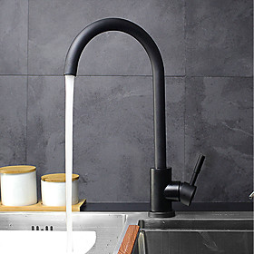 360Rotate Single Handle Kitchen Faucet Lead free Stainless Steel Black White Brushed Nickel Mixer Tap Sink Faucet T16HEI/BAI