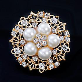 Women's Brooches - Flower European, Fashion Brooch Gold / Silver For Wedding..