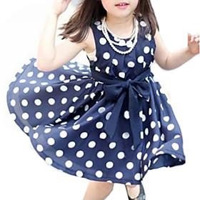 Toddler Girls' Sweet Polka Dot Sleeveless Dress 1283097