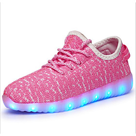 Boys' Shoes Tulle Fall Light Up Shoes Athletic Shoes Walking Shoes LED for Pool / Green / Pink