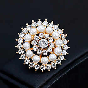 Women's Brooches - Pearl Flower European, Fashion Brooch Gold / Silver For W..