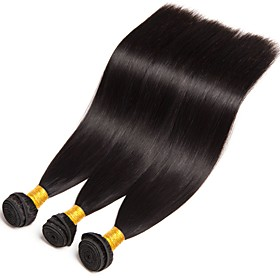 3 Bundles Brazilian Hair Straight Human Hair Human Hair Extensions 8-28 inch Human Hair Weaves Hot Sale / Shedding Free / Tangle Free Natural Color Human Hair 6619367
