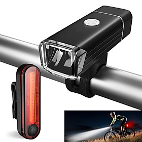 Front Bike Light / Rear Bike Light / Rechargeable Bike Light Set LED Bike Light Cycling Waterproof, Portable Li-ion 500 lm Cycling / Bike