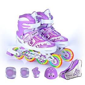 Boys' / Girls' Inline Skates Kid's Breathability, Wearable, Adjustable Flexible ABEC-7 - Blue, Blushing Pink, Purple