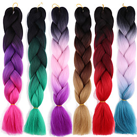 Braiding Hair Afro / Crochet Jumbo 100% kanekalon hair 2pcs / pack Hair Braids Long Ombre Braiding Hair 6111087