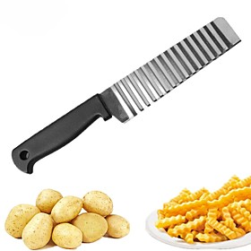 1pc Kitchen Tools Stainless steel Creative Kitchen Gadget Cutting Tools / Fruit  Vegetable Tools Potato / Carrot / Cucumber