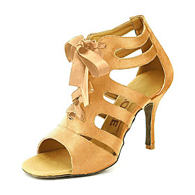 Women's Satin Ballroom Shoes / Salsa Shoes Buckle Sandal Customizable Yellow / Fuchsia / Purple / EU42 Category:Salsa Shoes,Ballroom Shoes; Upper Materials:Satin; Embellishment:Buckle; Available Width:Average; Season:Winter,Fall,Summer,Spring; Lining Material:Leather; Actual Heel Height:Customized Heel; Gender:Women's; Range:EU42; Style:Sandal; Outsole Materials:Suede; Closure Type:Lace-up; Customized Shoes:Customizable; Brand:YOVE; Foot Length:; SizeChart1_ID:2:468; Size chart date source:Provided by Supplier.; Base Categories:Dance Shoes,Shoes,Apparel  Accessories; Popular Country:Sweden,United Kingdom,France,Spain,United States; Special selected products:hot,StockEuro