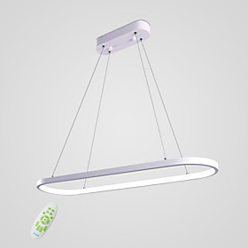 Linear Pendant Light Ambient Light Painted Finishes Metal Silica gel Bulb Included 110-120V / 220-240V Warm White / White / Dimmable With Remote Control LED Li