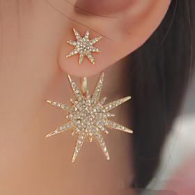 Women's Crystal Stud Earrings - Cubic Zirconia, Rhinestone Star, Galaxy, Star of David Fashion Gold / Silver For Wedding Party Birthday