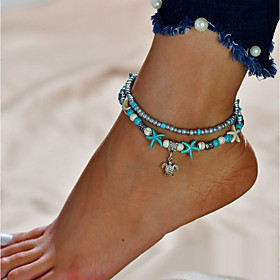 Women's Turquoise Anklet feet jewelry Turtle Cheap Double Layered Anklet Jewelry Silver For Going out Bikini Gender:Women's; Gemstone:Turquoise; Theme:Turtle,Cheap; Style:Double Layered; Jewelry Type:feet jewelry,Anklet; Occasion:Bikini,Going out; Material:Alloy; Length:21; Front page:Jewelry; Listing Date:06/07/2018; Popular Country:Norway,United Kingdom,United States
