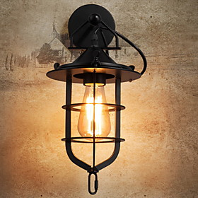 Anti Glare Antique Wall Lamps Sconces Living Room / Outdoor Metal Wall Light 220 240V 40 W / E27