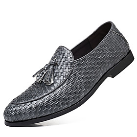 Men's Formal Shoes Faux Leather Fall British Oxfords Black / Gray / Red / Party  Evening / Party  Evening / Novelty Shoes