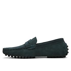 Men's Formal Shoes Suede Spring / Summer Loafers  Slip-Ons Light Brown / Khaki / Royal Blue