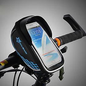 ROCKBROS Cell Phone Bag / Bike Frame Bag Touch Screen, Waterproof, Lightweight Bike Bag TPU / EVA / Polyster Bicycle Bag Cycle Bag Cycling Bike