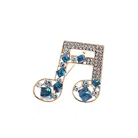 Women's AAA Cubic Zirconia Hollow Out Brooches - Elegant Brooch Blue For Wed..