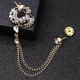 Men's Cubic Zirconia Stylish Brooches - Trendy, Fashion, Elegant Brooch Gold..