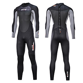 ZCCO Men's Full Wetsuit 3mm SCR Neoprene Diving Suit Thermal / Warm Quick Dry Anatomic Design Long Sleeve Back Zip - Swimming Diving Water Sports Spri