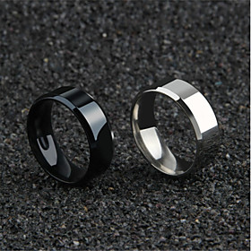 Men's Hollow Couple Rings Band Ring Ring - Titanium Steel Blessed, Faith Simple, Romantic, Korean 6 / 7 / 8 / 9 / 10 Gold / Black / Silver For Daily Festival