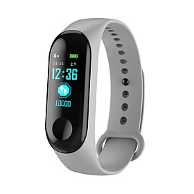 KUPENG M3C Smart Bracelet Smartwatch Android iOS Bluetooth Sports Waterproof Heart Rate Monitor Blood Pressure Measurement Touch Screen Pedometer Call Reminder