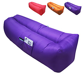 Air Sofa Inflatable Sofa Sleep lounger Air Bed Outdoor Waterproof Portable Fast Inflatable Polyester Taffeta 26070 cm Fishing Beach Camping All Seasons / Ultra