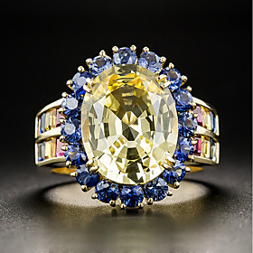 Women's Turquoise Crystal Cubic Zirconia Vintage Style Classic Band Ring Eng..