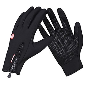 Sports Gloves Sports Gloves / Winter Gloves / Bike Gloves / Cycling Gloves Windproof / Waterproof / Keep Warm Touch Screen Gloves 100% Polyester / Poly urethan