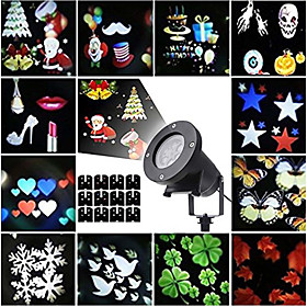 KWB 12pcs 12 W Lawn Lights Waterproof / Creative / Projector Light Multi Color 100 240 V Outdoor Lighting 12 LED Beads