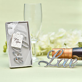 Non-personalized Stainless Steel / Chrome Bottle Openers / Bottle Favor Classic Theme / Romance / Wedding Bottle Favor