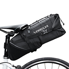 3-10 L Bike Saddle Bag Reflective Large Capacity Waterproof Bike Bag 600D Polyester Bicycle Bag Cycle Bag Cycling Bike / Bicycle