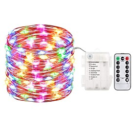 ZDM 5M 50 LED Fairy Lights Battery Operated String Lights Waterproof 8 Modes Fairy String Lights with Remote and Timer Firefly Lights Christmas Decor Christmas