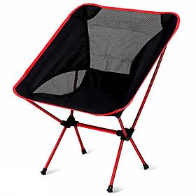 Camping Folding Chair Outdoor Portable Lightweight Aluminium Alloy 7005 Oxford Cloth Oxford for 1 person Fishing Beach Camping - Dark Blue Navy Blue Fuchsia