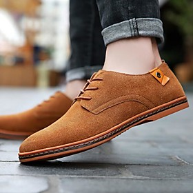 Men's Formal Shoes Suede Spring   Fall Oxfords Brown / Red / Blue