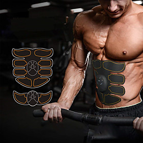 Abs Stimulator Abdominal Toning Belt EMS Abs Trainer Smart Electronic Muscle Toner Muscle Toning Tummy Fat Burner Ultimate Training Exercise  Fitness Gym Worko