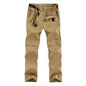 Men's Hiking Pants Convertible Pants Outdoor Waterproof Windproof Rain Waterproof Pants / Trousers Hunting Fishing Hiking Black Army Green Khaki 4XL 5XL 6XL /