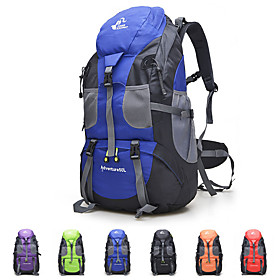 50 L Hiking Backpack - Lightweight, 3D Pad, Wearable Outdoor Fishing, Hiking, Camping Oxford Red, Green, Blue