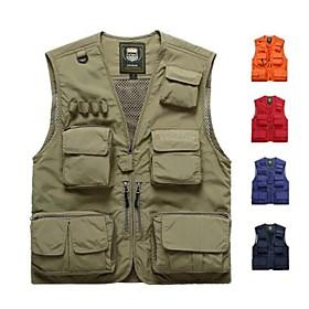 Men's Fishing Vest Vest / Gilet Windproof Rain Waterproof Breathability Hunting Fishing Sports  Outdoor