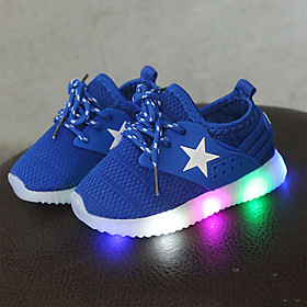 Boys' / Girls' Shoes Mesh Spring   Fall Comfort / Light Up Shoes Sneakers Lace-up / LED for Kids / Toddler Black / Blue / Pink