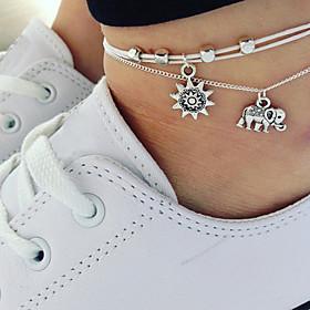 Women's Stylish Ankle Bracelet Elephant Ladies Artistic