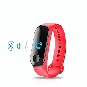 KUPENG M3 Smart Bracelet Smartwatch Android iOS Bluetooth Sports Waterproof Heart Rate Monitor Blood Pressure Measurement Touch Screen Pedometer Call Reminder