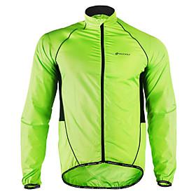 Nuckily Men's Cycling Jacket Bike Jacket Windbreaker Raincoat Waterproof Windproof Breathable Sports Polyester Winter Green Mountain Bike MTB Road Bike Cycling