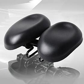 Acacia Bike Saddle / Bike Seat Adjustable Extra Wide / Extra Large Breathable PU Leather Silica Gel Cycling Road Bike Mountain Bike MTB Black