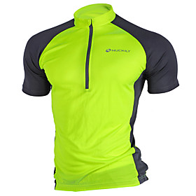 Nuckily Men's Short Sleeve Cycling Jersey - Pink Grey Light Green Bike Jersey Top Breathable Quick Dry Ultraviolet Resistant Sports Polyester Mountain Bike MTB