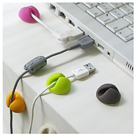 4PCS Multipurpose Cable Wire Organizer Clip Tidy USB Charger Cord Holder for desktop Cable Fixed clamp Random